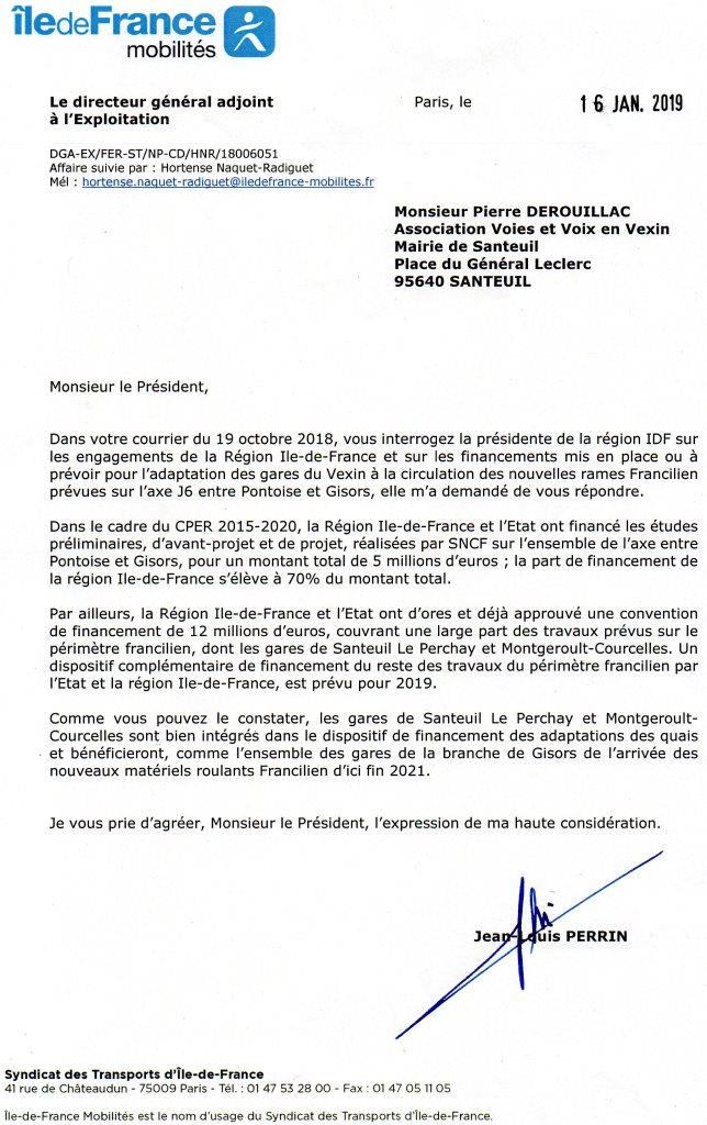 Courrier IDF mobilite