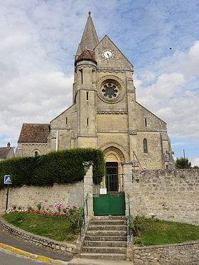 280px Santeuil 95 église Saint Pierre et Saint Paul façade occidentale